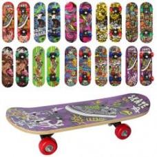 Скейт MS 0323-4 60-15см,пласт.подвеска,колесаПВХ,10видов,разобр