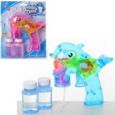 Мыльные пузыри 568-3 пистолет(дельфин) 16см, запаска2шт,2 цвета,в слюде,20-25-7см