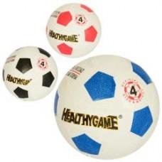 Мяч футбольный MS 2261 размер 4, резина Grain, 270-290г, игла, сетка, 3цв, в кульке