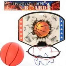 Баскетбольное кольцо MR 0126  щит 28-21-картон,кольцо17см-пластик,сетка,мяч,в кульке,31-28-2см
