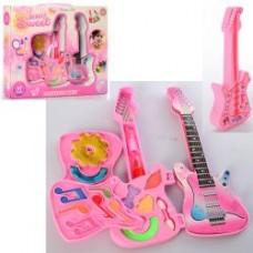 Косметика JT0016 гитара, тени, кисточки, блеск, помада, в кор-ке, 32,5-26-5см