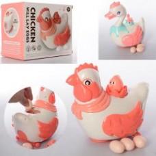 Музыкальная игрушка X-121-22  20см,муз,св, несет яйца, 2в(уточка/курочка),бат,кор,20-16,5-13см