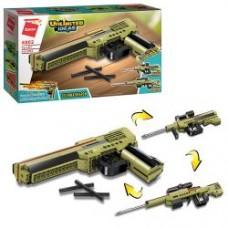 Конструктор Qman 4802 (32шт) пистолет, 3в1, 202дет, в кор-ке, 31,5-19-5см