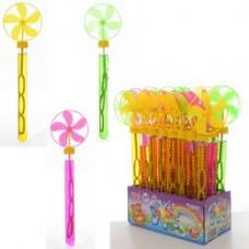 Мыльные пузыри 805T меч, ветрячок, 28см, 24шт(3цвета) в дисплее, 20-9-28,5см