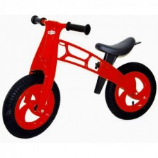 """Велобег 12"""", EVA колеса КРАСНЫЙ (Cross bike)"""