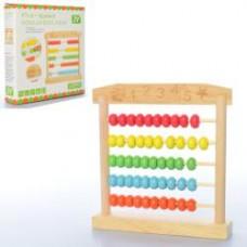Деревянная игрушка Счеты MD 2104 (17см, в кор-ке, 17,5-17,5-3см