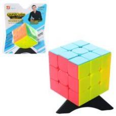 Кубик рубик 322  6-6-6см, на подставке, в слюде, 15,5-18,5-8см