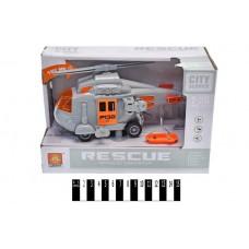 """Вертоліт """"Рятівник"""" інерційний, озвучений, зі світлом, в коробці WY760E р.24*10,5*15,5см."""