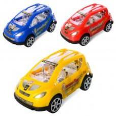 Машинка 888-1  инер-я, 15,5см, 3цвета, в кульке, 15-7,5-7,5см