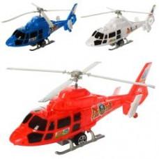 Вертолет 2488 (144шт) 35см, инер-й, на запуске, 3цвета, в кульке, 35-13,5-7см