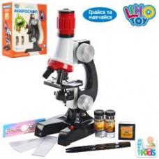Микроскоп SK 0008 (36шт) 21см, свет, пробирки, стекла, на бат-ке, в кор-ке, 19-24-8,5см