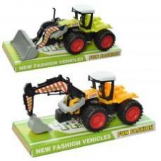 Трактор 168-50-51 (96шт) инер-й, 22см, стройтехника, подвижн.детали,2 вида, в кульке, 29-19-8см