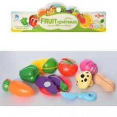 Продукты YM-306  на липучке, овощи 8шт, досточка,нож, в кульке, 21,5-23-5см