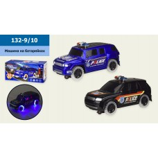 Машина батар. 132-9/10 2 вида, свет, звук, в кор. 24*10,5*11 см, р-р игрушки – 23.5*10*11 с