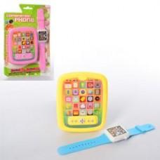 Телефон 8176 ( 13см, муз, звук,часы, на бат-ке, 2 цвета, на листе,17-25,5-2см