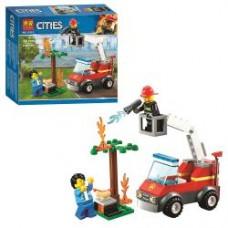 Конструктор 11211 город, пожарная машина, фигурки, 76дет, в кор-ке, 19-17-4,5см