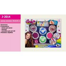 Косметика J-2014  мелки для волос, наклейки на ногти, в кор. 25,5*3,5*20,5 см
