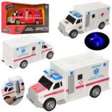 Машина AS-2161  АвтоСвіт, инер-я, 20см, зв,св, 3в(пожарн/скорая), бат(таб), в кор,23-15-11см