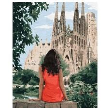 """Набір для розпису по номерах. """"Подорожуючи Барселоною"""" 40*50см"""