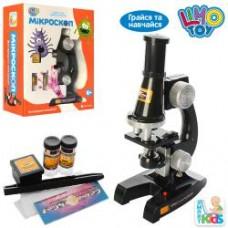 Микроскоп SK 0007 (21см, свет, стекла, пробирки, на бат-ке, в кор-ке, 19-24-8,5см