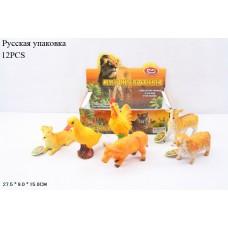 Животные резиновые 7581 домашние животные, по 12шт в боксе 27,5*9*15см