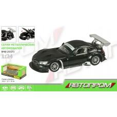 """Машина металл 68251A  """"АВТОПРОМ"""",1:24 """"BMW Z4 GT3"""",батар.,свет,звук,откр.двери,капот,багаж.,"""