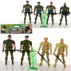 Солдаты в наборах 8008-13-15 ( комбат, 4шт, 12см, 2вида, в кульке, 19,5-18-2см