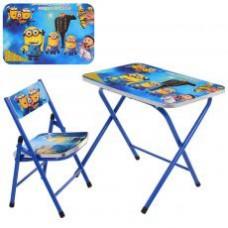 Столик A19-MN  складной, столешница 60-40см, 1стульчик, в кор-ке, DM