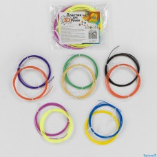 "Пластик для 3D ручки 86387 ""FUN GAME"", 5 видов, 2 цвета в кульке"