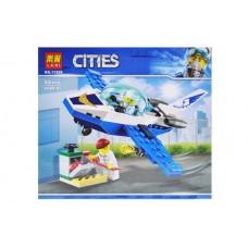 """Конструктор """"CITIES"""" """"Повітряна поліція: патрульний літак"""" 66дет 11205 р.19*17*4,5см."""