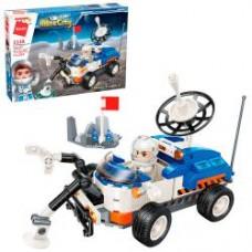 Конструктор Qman 1138 космический транспорт, база, фигурка, 253дет, в кор-ке, 32,5-22-6см