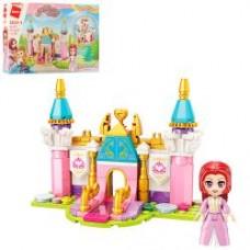 Конструктор Qman 2613-1  замок принцессы, фигурка, 131дет, в кор-ке, 22-14,5-4,5см