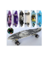 Скейт MS 0461-7 пенни,60-17см,алюм.подвеска,ручка,колесаПУсвет, антискольз,разобр, 3вида