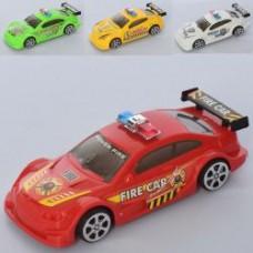 Машина 729-51A инер-я, 13,5см, 4 вида1в-полиция,1в-пожарная), в кульке,6-13,5-4,5см