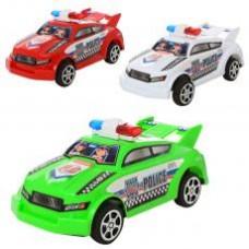 Машинка 66911  инер-я, полиция, 3 цвета, в кульке, 14-6-6,5см