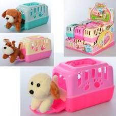 Собака 821 (11см, плюш, в чемодане15-10-9см, 12шт(3вида) в дисплее,28-21-31см