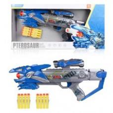 Ружье 6003A ( 49см, звук, свет, мягкие пули 10шт, на бат-ке, в кор-ке, 53-25-8см