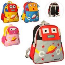 Рюкзак MK 1810  разм сред+,31-28-10см,робот,1отд,заст-молн,3наруж и 1вн.карман,4вида,в кульке