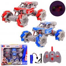 Перевертыш аккум р/у UD2200A-DIY  со съемн.колесами,свет,2 цвета,р-р игрушки-21,5*15,5*12,5с