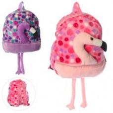 Рюкзак X15282 фламинго,33-29-8см, 1отд,застежка-молния,1наруж.карман, ножки, 2цв,в кульке