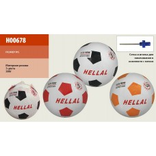 Мяч футбольный H00678 (30шт) №5, резина, 380 грамм, MIX 3 цвета