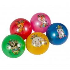 """М'яч 9"""" BT-PB-0172 тварини 5мал.5кол.70г сітка"""