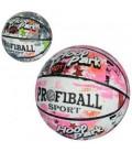 Мяч баскетбольный EN 3222-3  размер 7, резина, 580-600г,рисунок, 3цвета, в кульке