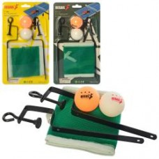 Сетка MS 3198 для настольного тенниса 120-12см, шарики2шт, в слюде, 16-29-4см