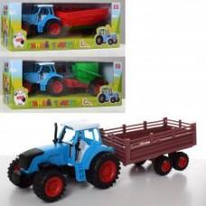 Трактор 0488-261-3-4Q инер-я, 15см, с прицепом, 3вида, в кор-ке, 34,5-13-12см