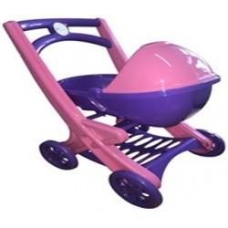 Візок для ляльок з люлькою, розово-фиолетовая)