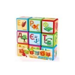 Кубики Абетка 9 шт. большая