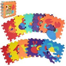 Коврик Мозаика M 2616 EVA,животные,10д(10мм,31,5-31,5см),массаж,6текстур,пазл,31,5-31,5-10см