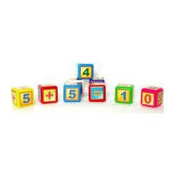 Кубик математика 9шт малые