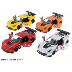 """KT5397W Corvette C7.R Race Car Модель легковая 5""""метал.инерц.откр.дв.4цв.кор.ш.к./96/"""